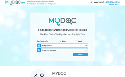 MYDOC front page preview